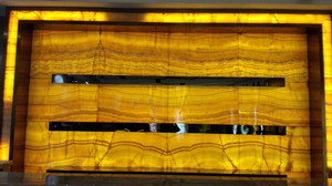 yellow onyx panels