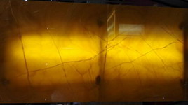 yellow onyx transclucent panel