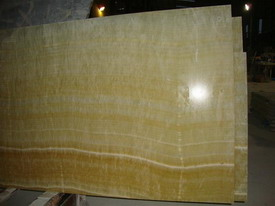 yellow onyx glass panel